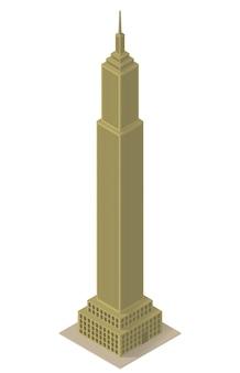 Construção de arranha-céus isométrica