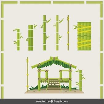 Construção de bambu