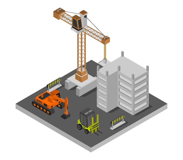 Construção de casa isométrica