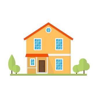 Construção de casa ou estilo simples em casa.