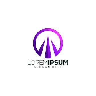 Construção de design de logotipo