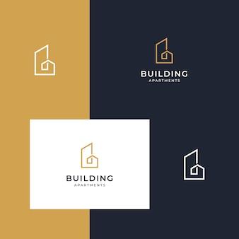 Construção de designs inspiradores de logotipos com desenhos de linha