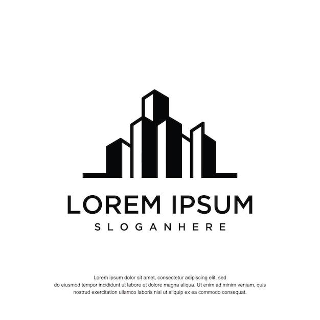 Construção de inspiração de design de logotipo