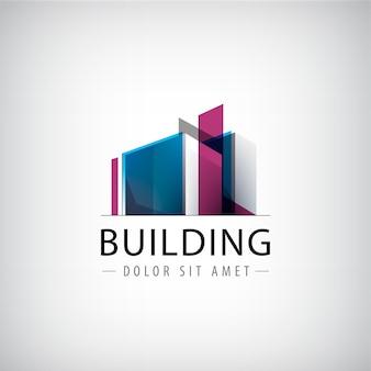 Construção de logotipo colorido.