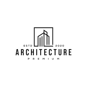 Construção de logotipo de arquitetura