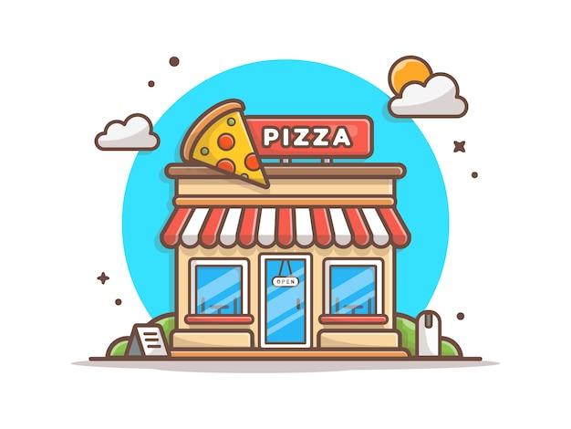Construção de loja de pizza
