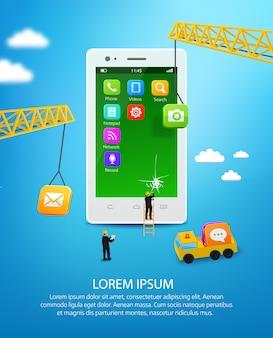 Construção de um telefone móvel