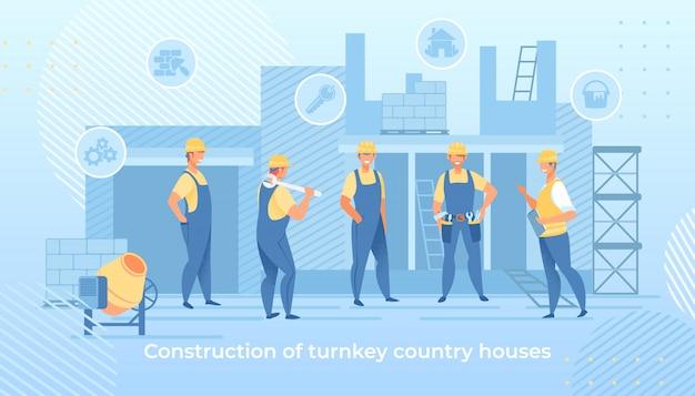 Construção do serviço de casas de campo turnkey