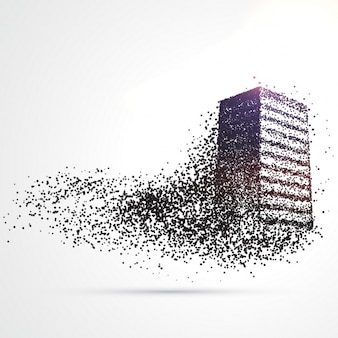 Construção feito a partir de partículas de negro