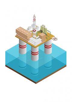 Construção offshore de petróleo e plataforma