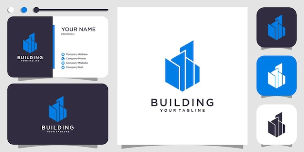 Construindo conceito de logotipo com estilo criativo moderno premium vector