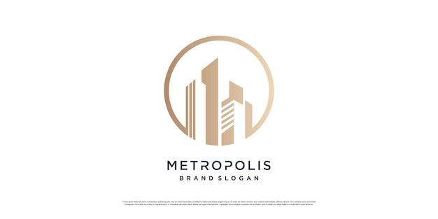 Construindo conceito de logotipo com estilo único criativo premium vector parte 8