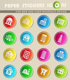Construindo ícones vetoriais em adesivos de papel colorido