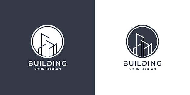 Construindo logotipo com conceito de linha premium vector parte 1