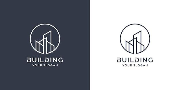 Construindo logotipo com conceito de linha premium vector parte 2
