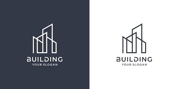 Construindo logotipo com conceito de linha premium vector parte 3