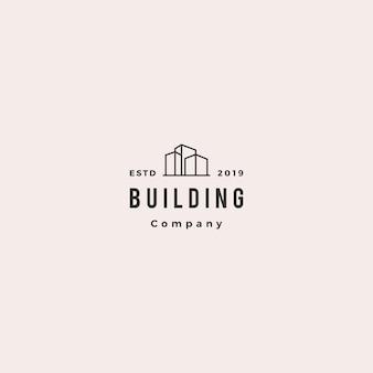 Construindo o hipster retro vintage de logotipo