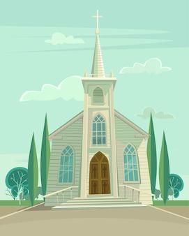 Construindo uma igreja.