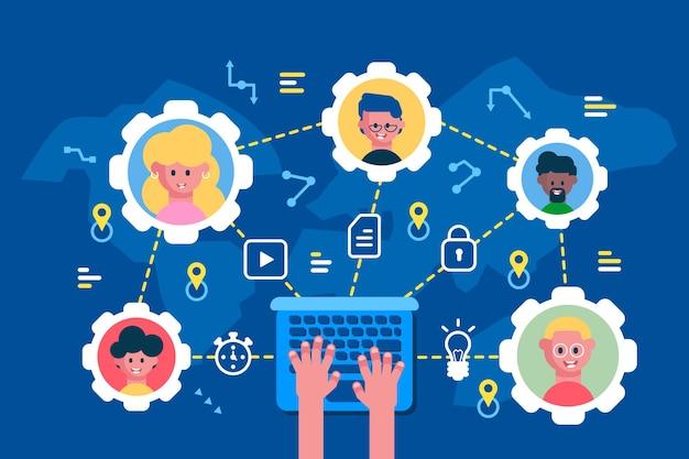 Construir e sustentar ilustração de desenvolvimento de equipe eficaz