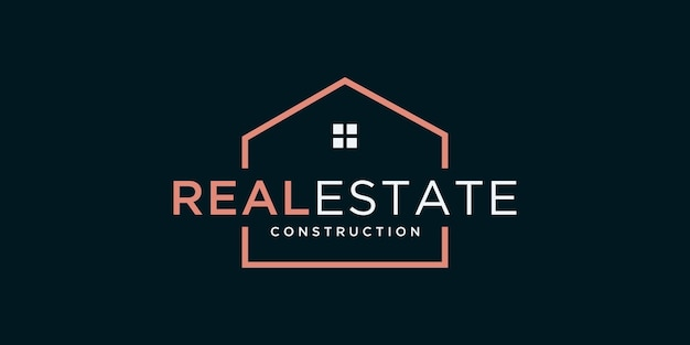 Construir modelo de design de logotipo de casa