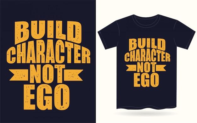 Construir personagem não ego tipografia para camiseta