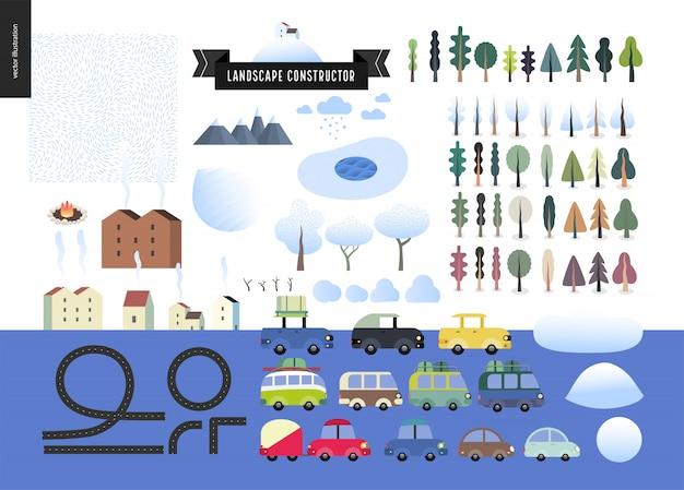 Construtor de paisagem de inverno