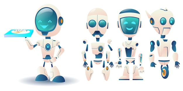 Construtor de robô futurista