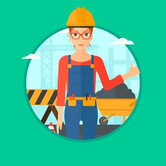 Construtor desistir de polegar.