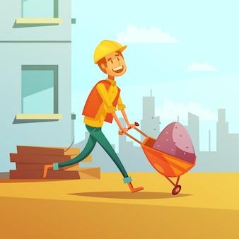 Construtor e construção de fundo dos desenhos animados