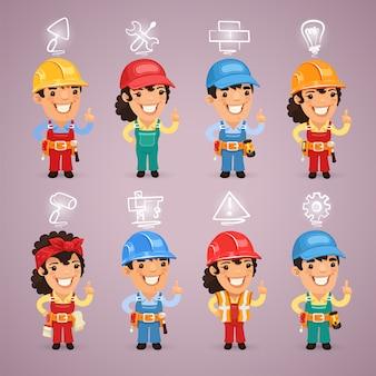 Construtores com conjunto de ícones
