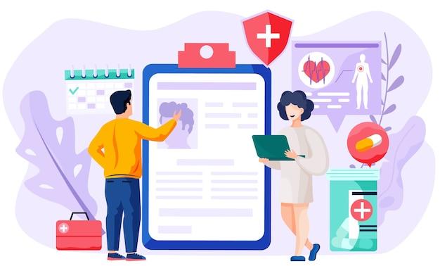 Consulta com médico usando conceito de comunicação remota