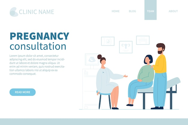 Consulta de gravidez - página de destino