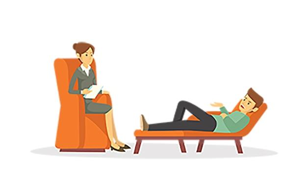 Consulta de psiquiatra feminina
