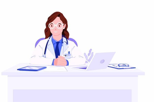 Consulta médica feminina