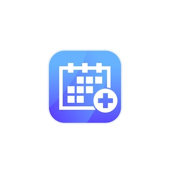 Consulta médica, ícone de programação para aplicativos