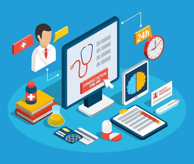 Consulta médica isométrica