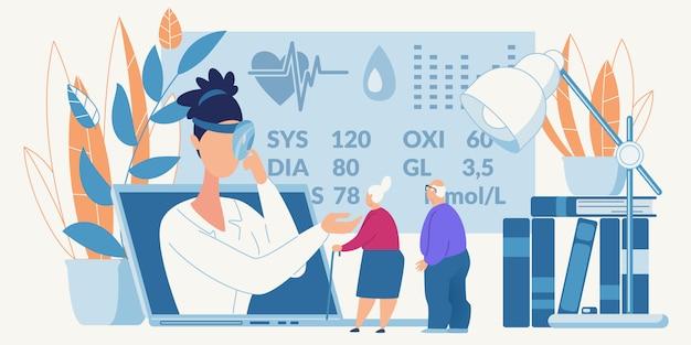 Consulta médica on-line para pessoas idosas