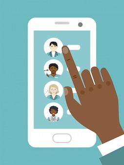 Consulta médica online. escolhendo um médico para um exame médico