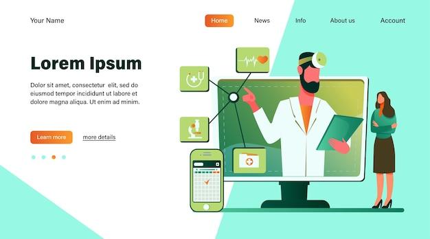 Consulta médica online.