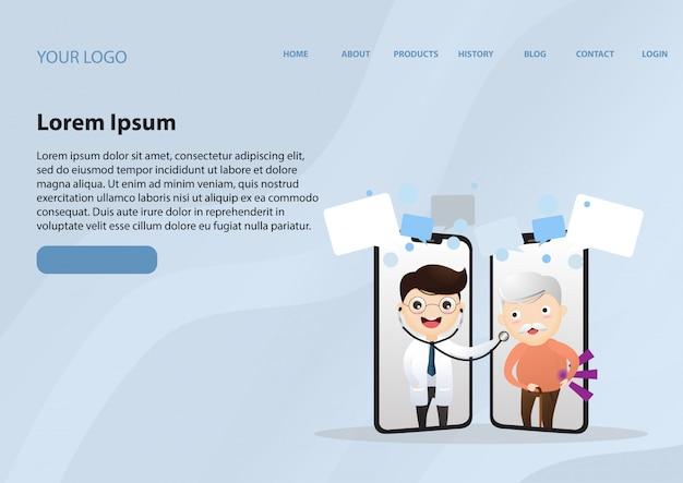 Consulta médica pela internet. suporte hospitalar online