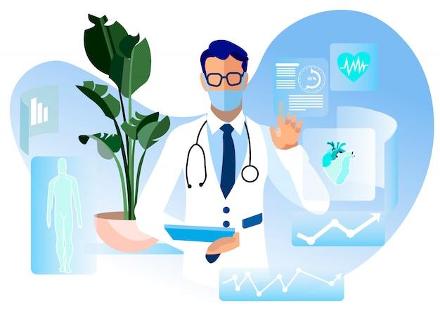 Consulta on-line de médico publicidade plana