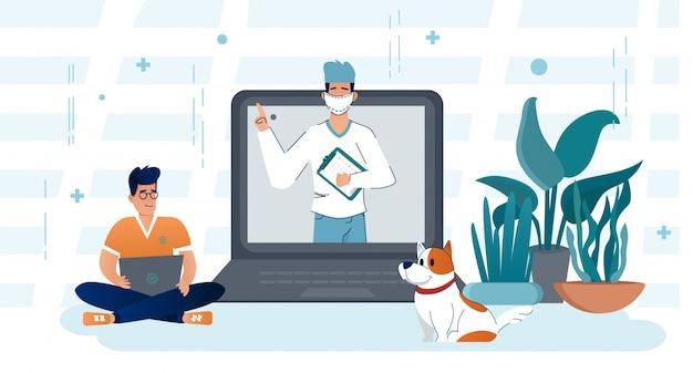 Consulta online com o seu médico. médico de conceito de medicina web pronto suas perguntas ajudam.