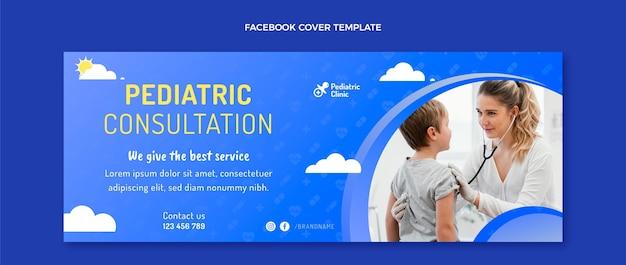 Consulta pediátrica gradiente capa do facebook