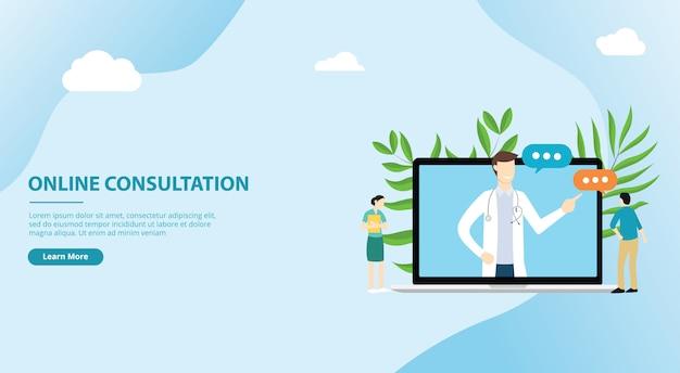 Consultas médicas on-line para o modelo de site