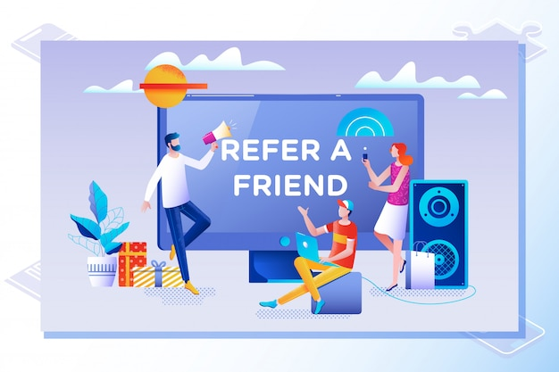 Consulte um conceito de ilustração vetorial de amigo
