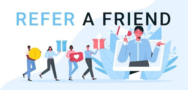 Consulte uma ilustração em vetor plana amigo.