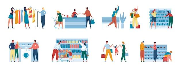 Consultor ajudando casal a comprar eletrodomésticos