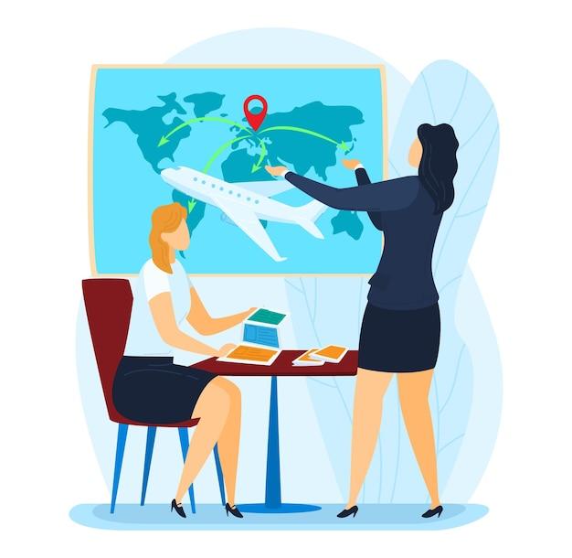 Consultor de agência de viagens para promoção de agência