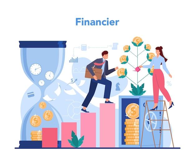 Consultor financeiro ou conceito de financiador