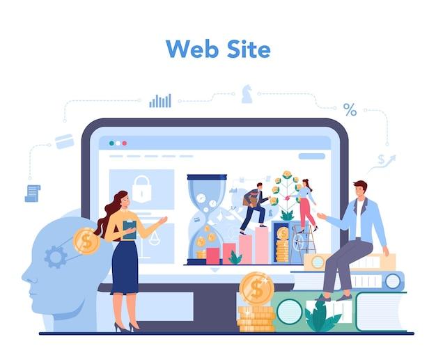 Consultor financeiro ou serviço ou plataforma online de financiador